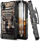 For Alcatel Volta 5002R AT&T Case Belt Clip Holster Phone Cover + Tempered Glass