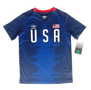 Umbro Youth USA Soccer Jersey Color Options Youth Size S, M, L, XL