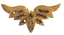 Bronze Wings Large Beaded Sequined Sewing Sew-On Applique Craft Patch Vintage