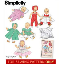 SEWING PATTERN! MAKE VINTAGE STYLE DOLL CLOTHES~FIT BITTY BABY~BETSY WETSY~KISSY