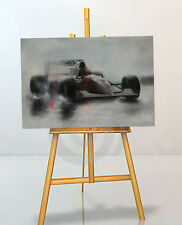 Ayrton Senna LARGE 30x20 Inch McLaren Framed Picture F1 Canvas Formula One