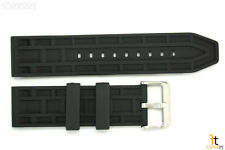 24mm Fits Swiss Army Waffle Pattern Heavy Rubber Watch BAND Strap