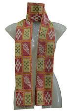 Recycle Sari Vintage Cotton Kantha Scarf Antique Sew Long Reversible Scarf Hijab