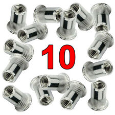 Qty. 10 Stainless Steel 304 Rivet Nut Rivnut Insert Nutsert - #10-32 UNF Nuts