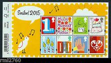 2015 smilers Nuevos Diseños Mini Hoja Con Barcode margen, Perfecto Sg ms3678