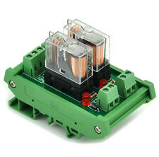 DIN Rail Mount 2 SPDT 16A Power Relay Interface 24V DC Relay Industrial