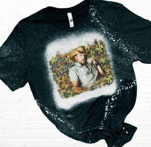 Jason Aldean Bleached T-Shirt Sublimated Country Music Vintage Retro Camouflage