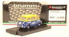 R411 modellino auto BRUMM 1:43 - 1956 FIAT 600 Multipla - Macchine Caffè Cimbali