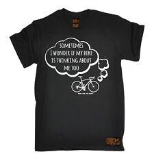 Me pregunto si mi bicicleta de ciclismo Funny Top birthdayátee T Shirt T-Shirt
