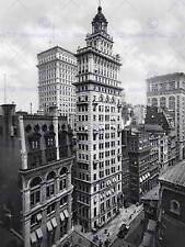 Gillender BUILDING NEW YORK 1900 Vintage Old BW foto STAMPA POSTER 806bwb