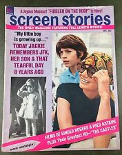 True Vintage 1971 December Screen Stories Gossip Magazine Ads Jackie Onassis EUC