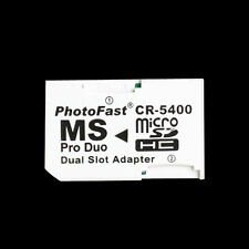Micro SD TF to Memory Stick MS Pro Duo PSP Card Dual 2 Slot Adapter White Hot
