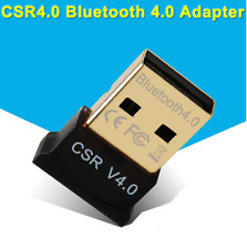 USB Bluetooth CSR 4.0 Dongle Plug and Play Adapter PC Laptop Headset PDA 3Mbps