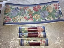 Shand Kydd Wallpaper Border LOT of 4 England Lovely Pink Blue Floral NIP 5.4 Yd