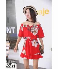 OFF SHOULDER ROMPER BKK 81969 (RED)