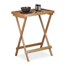 Tabletttisch aus Bambus für Frühstück, Serviertisch, Sofatisch 50cm breit, natur