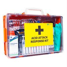 Acid Attack Response Kit in Hard Case | Includes Water, Burn Dressings, Gauntlet