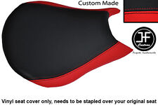 RED & BLACK VINYL CUSTOM FITS DUCATI STREETFIGHTER FRONT RIDER SEAT COVER ONLY