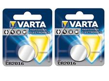 2 pile batterie CR2016 varta 3 Volt Litio