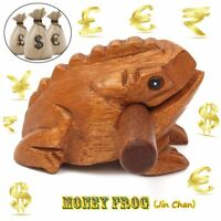 Traditional Wooden Money Frog Musical Instrument Decompress Toys Fortune Symbol
