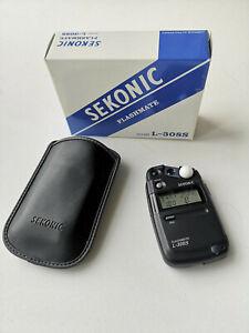 Sekonic Flashmate L-308S Flashmate, boxed with case/strap. Excellent conditon