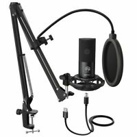 Professional Studio Microphone Condenser Mic Kit Pro Audio Stand Sound Broadcast