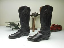 LUCCHESE OXBLOOD BLACK CHERRY COUNTRY COWGIRL WESTERN DANCING BOOTS SIZE 7 B