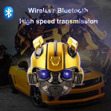High speed Transformer Bumblebee Wearable Helmet Wireless Bluetooth Speaker USA