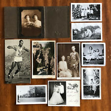 Lot Of 10 Vintage Antique Photographs And Postcards