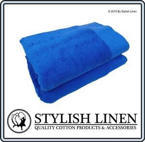 Bath Towels 2 Piece Set 100% Egyptian Cotton 650GSM New 2 Pieces Towel Set Blue
