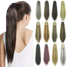 Long Straight Hair Ponytail As Real Human Hair Claw on Pony Tail Hair Extensions