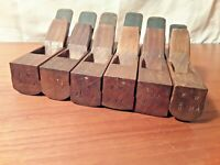 "Vintage Wood Moulding Planes, Set of 6 rounds  5 1/2"" in length"