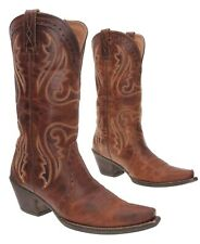 ARIAT Cowboy Boot 9 B Womens WESTERN Oiled Leather Snip Toe Rodeo Boots Biker