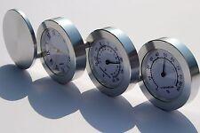 Reloj De Mesa Escritorio de aluminio moderna temperatura humedad presente idea regalo de pantalla