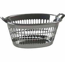 2x HomeLeisure TREND OVAL LAUNDRY BASKET 35L, 2-Ergonomic Handles *Aust Made