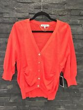 NWT Juicy Couture Hazy Summer Orange Cotton Cardigan Sz XS $128