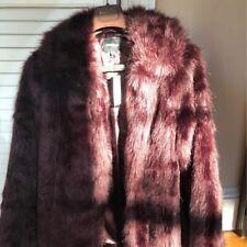 New Express fur jacket in burgundy