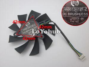 New MSI GTX1060 OC GTX950 R7 360 2GD5 Graphics Fan 4pin HA9015H12F-Z DC12V 0.55A