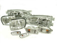 COMBO DEPO Clear Headlight + Corner + Bumper Lights For 1999-2001 Subaru Impreza