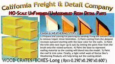 WOOD CRATES/BOXES LONG (8pcs) Scale Model Masterpieces HO Fine Craftsman Detail