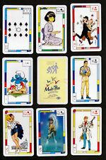 Collectible Belgium playing cards. Multi-pass. Smurfs, Tin-tin