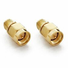2x Adapter SMA-Anschluss mit PIN auf RP-SMA-Anschluss mit PIN, Stecker / Stecker