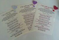 10 Handmade Personalised I Spy Camera Sign Wedding trivia card many heart colour