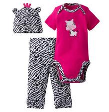 Gerber Girl Zebra 3-Piece Set; Onesie, Cap & Pants BABY SHOWER GIFT Size 3-6 Mo