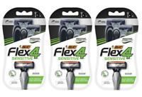 BIC Flex 4 Sensitive Men's 4 Blade Disposable Razors, 4 Count (3 Pack)