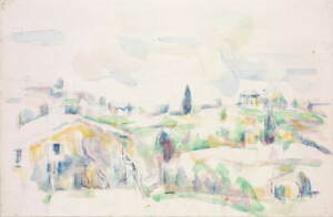 Paul Cezanne Landscape in Provence Poster Reproduction Giclee Canvas Print