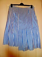 Paul Smith Blue Stunning Blue & White Stripe Skirt UK 14, I 46
