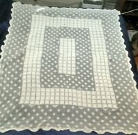 "Vintage Crocheted Lace Tablecloth 70"" × 54"""
