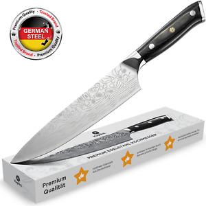 Gem/üsemesser Inkl Ergonomische Griffe Allzweckmesser und Kochmesser Antihaftbeschichtung MasterChef 3-teiliges Messer-Set Edelstahl