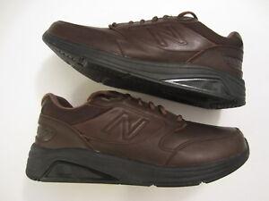Men's NEW BALANCE MW928 V2 Walking leather sneaker shoe brown size 10 D (Medium)